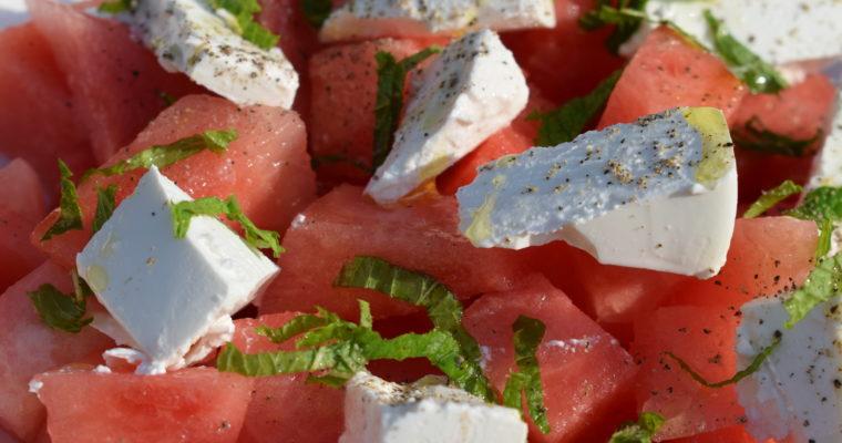 Wassermelone mit Schafskäse – Rezept