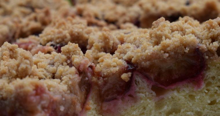 Hefekuchen – Pflaumenkuchen mit Zimtstreuseln / Thermomix Rezept